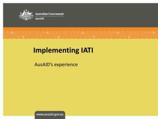 Implementing IATI