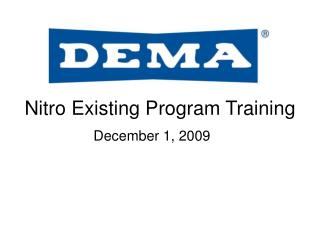 Nitro Existing Program Training