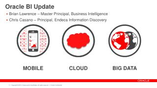 Oracle BI Update