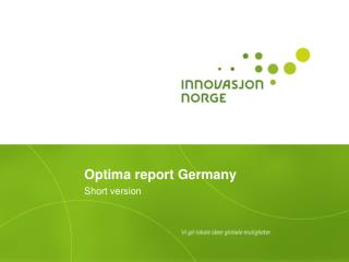 Optima report Germany