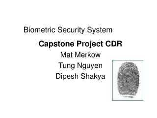 Biometric Security System
