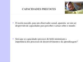 CAPACIDADES PRECOCES