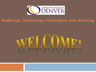 Radiologic Technology Information and Advising