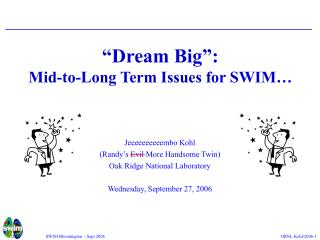 �Dream Big�: Mid-to-Long Term Issues for SWIM�