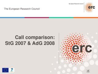 Call comparison: StG 2007 & AdG 2008