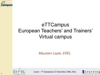 eTTCampus  European Teachers' and Trainers' Virtual campus