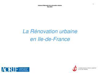 Instance Nationale de la rénovation urbaine Mai 2006