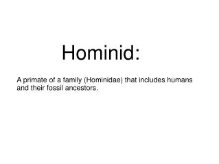 Human Evolution / Hominid Powerpoint