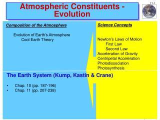 Atmospheric Constituents - Evolution