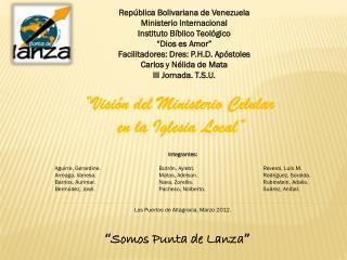 República Bolivariana de Venezuela Ministerio Internacional Instituto Bíblico Teológico