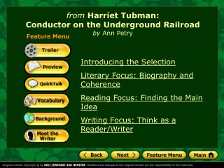 from  Harriet Tubman: Conductor on the Underground Railroad by  Ann Petry