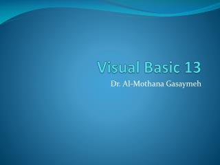 Visual Basic 13
