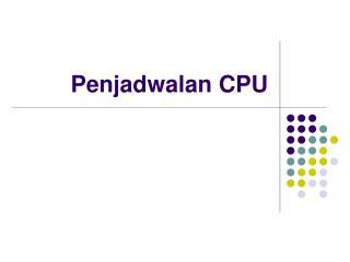 Penjadwalan CPU