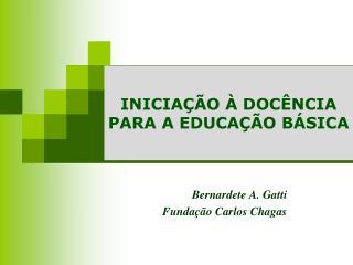 INICIAÇÃO À DOCÊNCIA PARA A EDUCAÇÃO BÁSICA