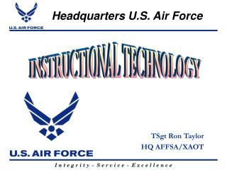 TSgt Ron Taylor HQ AFFSA/XAOT