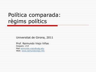 Política comparada:  règims polítics