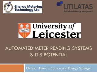 Automated meter Reading systems & it's potential