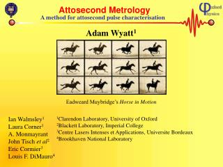 Attosecond Metrology