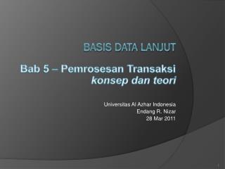 Basis Data  Lanjut