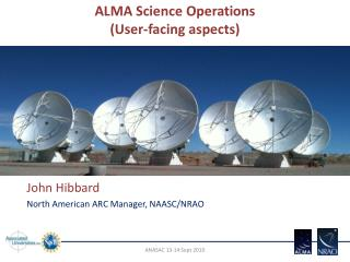 ALMA Science Operations (User-facing aspects)