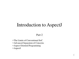Introduction to AspectJ