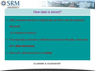 How data is stored?