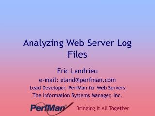 Analyzing Web Server Log Files