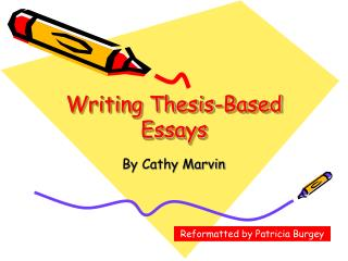 Writing Thesis-Based Essays