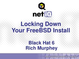 Locking Down Your FreeBSD Install