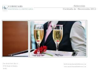 Selección Cocktails de  Bienvenida 2012