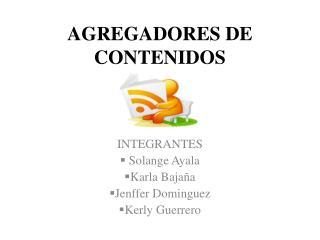 AGREGADORES DE CONTENIDOS