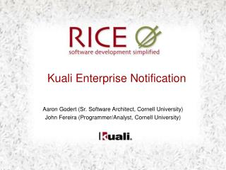 Kuali Enterprise Notification