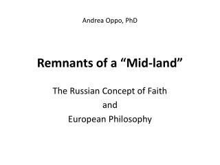 Andrea Oppo, PhD