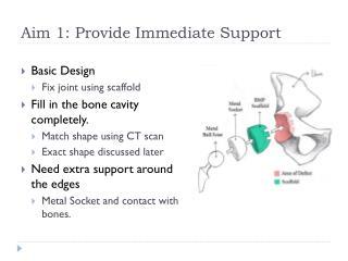 Aim 1: Provide Immediate Support