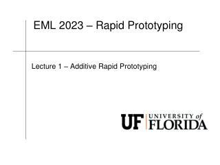 EML  2023 � Rapid Prototyping