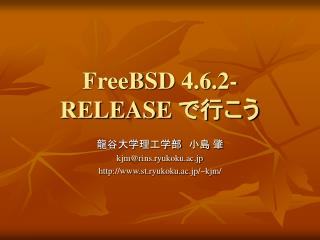 FreeBSD 4.6.2-RELEASE  ????