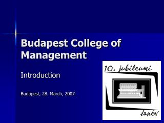 Budapest College of Management