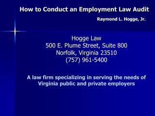 How to Conduct an Employment Law Audit