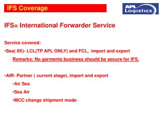 IFS Coverage