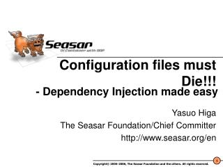 Configuration files must Die!!!