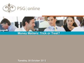 Money Matters: Trick or Treat?