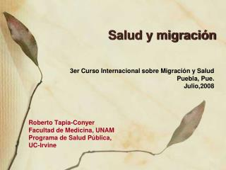 Salud y migraci n