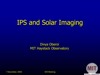 IPS and Solar Imaging