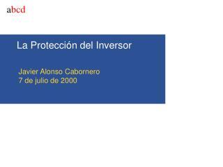 La Protecci�n del Inversor