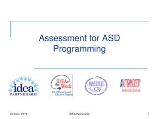 Assessment for ASD  Programming