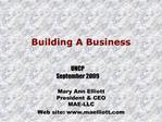 Mary Ann Elliott President  CEO MAE-LLC Web site: maelliott