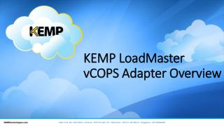 KEMP LoadMaster  vCOPS  Adapter Overview