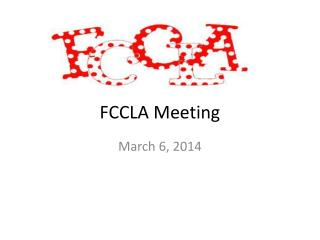 FCCLA Meeting