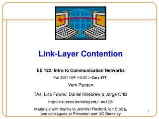 Link-Layer Contention