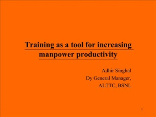 Training as a tool for increasing manpower productivity